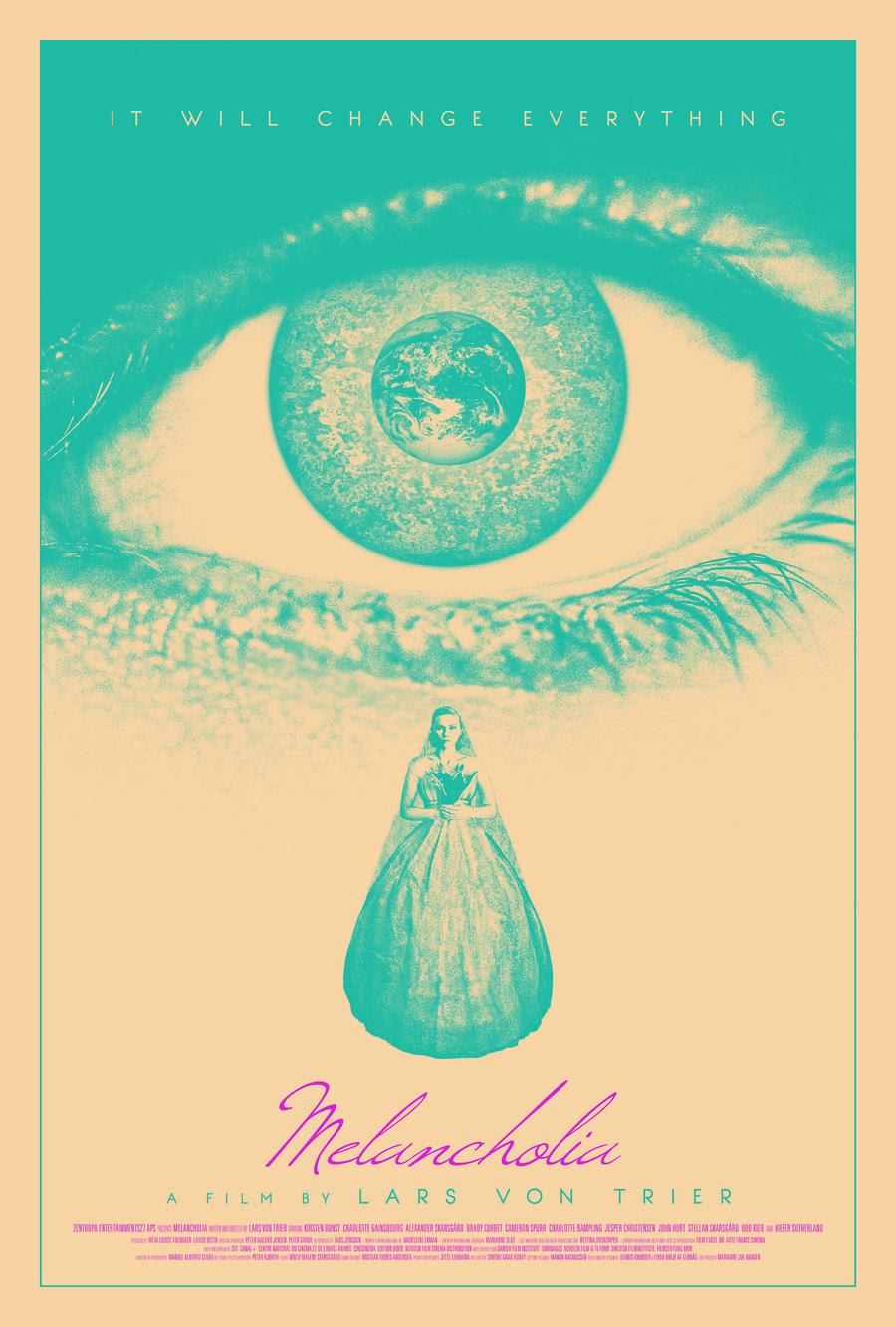 Risultati immagini per melancholia movie poster