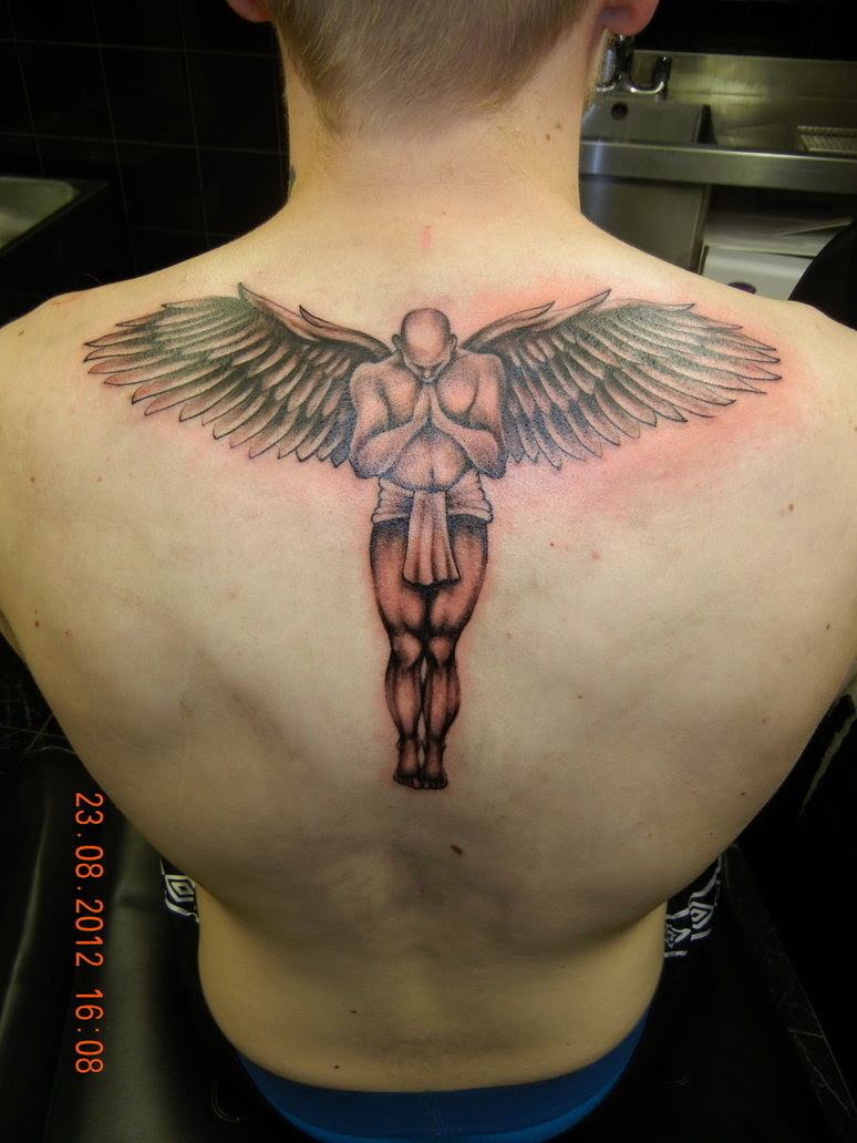 Awesome Mens Back Angel Tattoo Tattoomagz