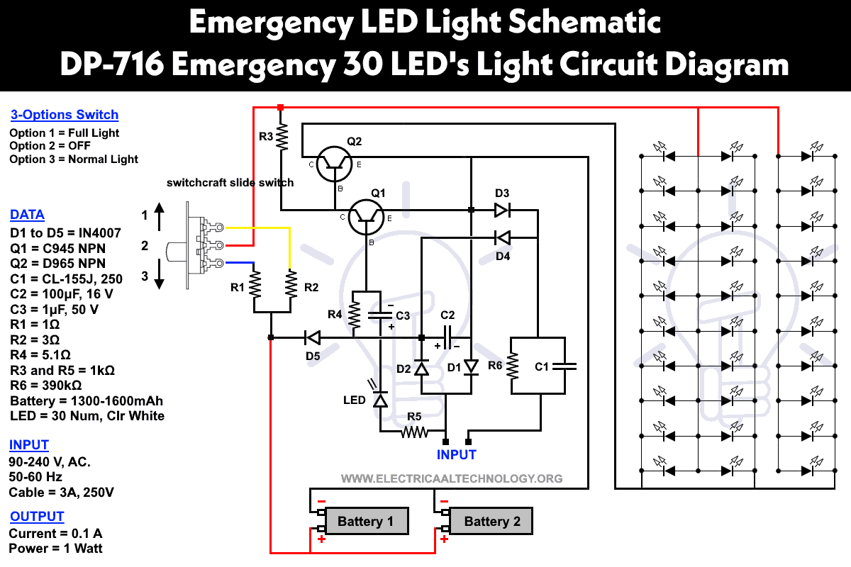 Impex Emergency Light Circuit Diagram