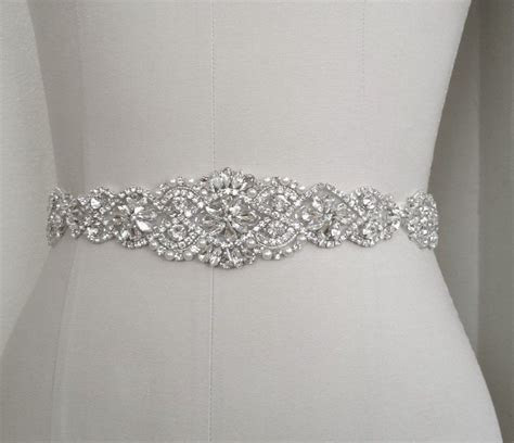 Wedding Bridal Sash Belt, Crystal Pearl Wedding Dress Sash