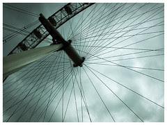 london cloudy sky - london eye