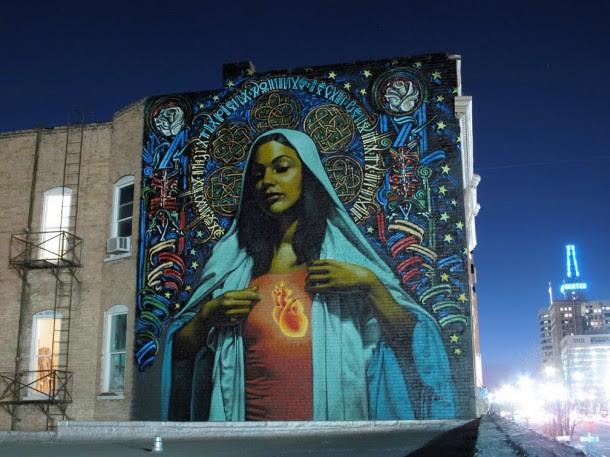 Street art  01 El MAC + RETNA /Marquis Lewis