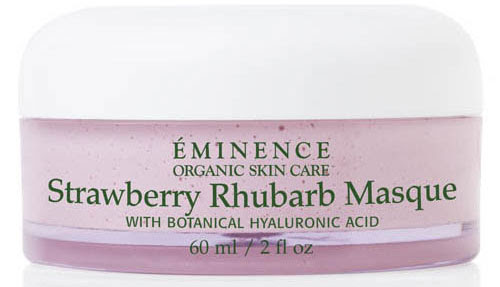 April: Eminence Organics online now | Vichy Body Scrub + Scalp Massage Deal | Organic Strawberry Rhubarb Masque
