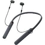 Sony WI-C400 Bluetooth Wireless In-Ear Earphones with Mic and NFC - Omni-Directional - Black