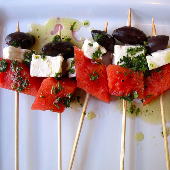 Watermelon and Feta Skewer Recipe 2011-08-04 13:25:11