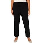 Charter Club Womens Plus Knit Ankle Ankle Pants Black 14W