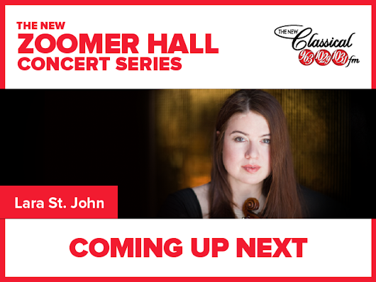 Lara St. John Performs LIVE from The New Zoomer Hall - Classical FM 96.3