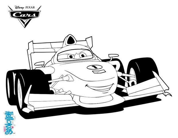 Francesco bernoulli  cars 2 coloring pages  Hellokids.com