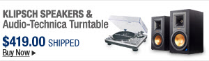 Newegg Flash – Klipsch Speakers & Audio-Technica Turntable