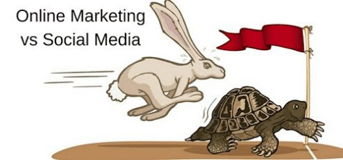 Hare and Tortoise – Online Marketing vs Social Media Marketing – by Derek Haines…