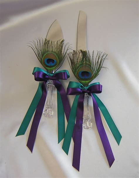 Wedding Bridal Peacock Cake Knife and Server Set Your