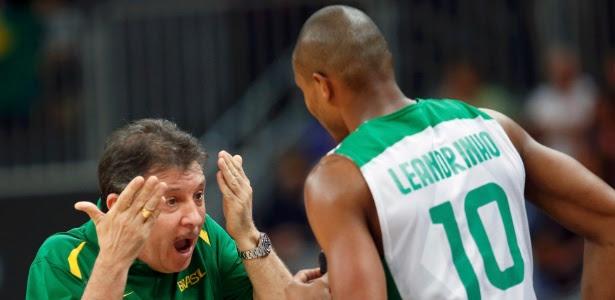 Técnico Ruben Magnano viu Leandrinho nervoso na estreia brasileira nos Jogos