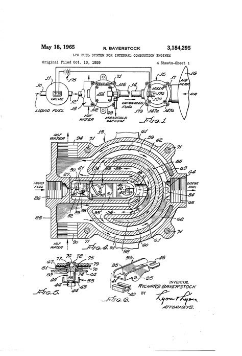 Patent US3184295 - Lpg fuel system for internal combustion