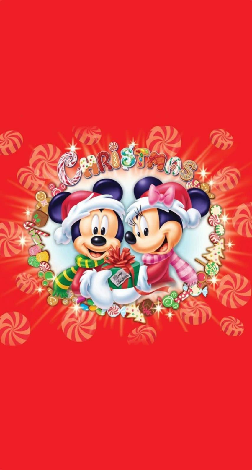 ミッキーとミニーのクリスマス めちゃ人気 Iphone壁紙dj