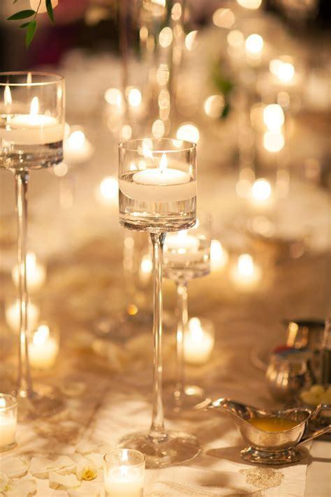 Tall Glass Candle Holder Reception Decor   Elizabeth Anne