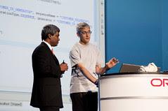 Mike Lehmann and Thomas Kurian, JavaOne Keynote, JavaOne + Develop 2010, Moscone North
