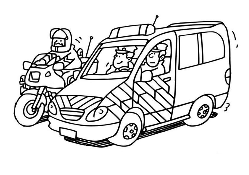 polizeiauto ausmalbilder für kinder  wie zeichnet man