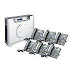 Syspine A50 Plus Phone System With 6 IP Phones: 8-Line Server
