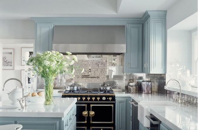 Home Architec Ideas Kitchen Design Blue Cabinets