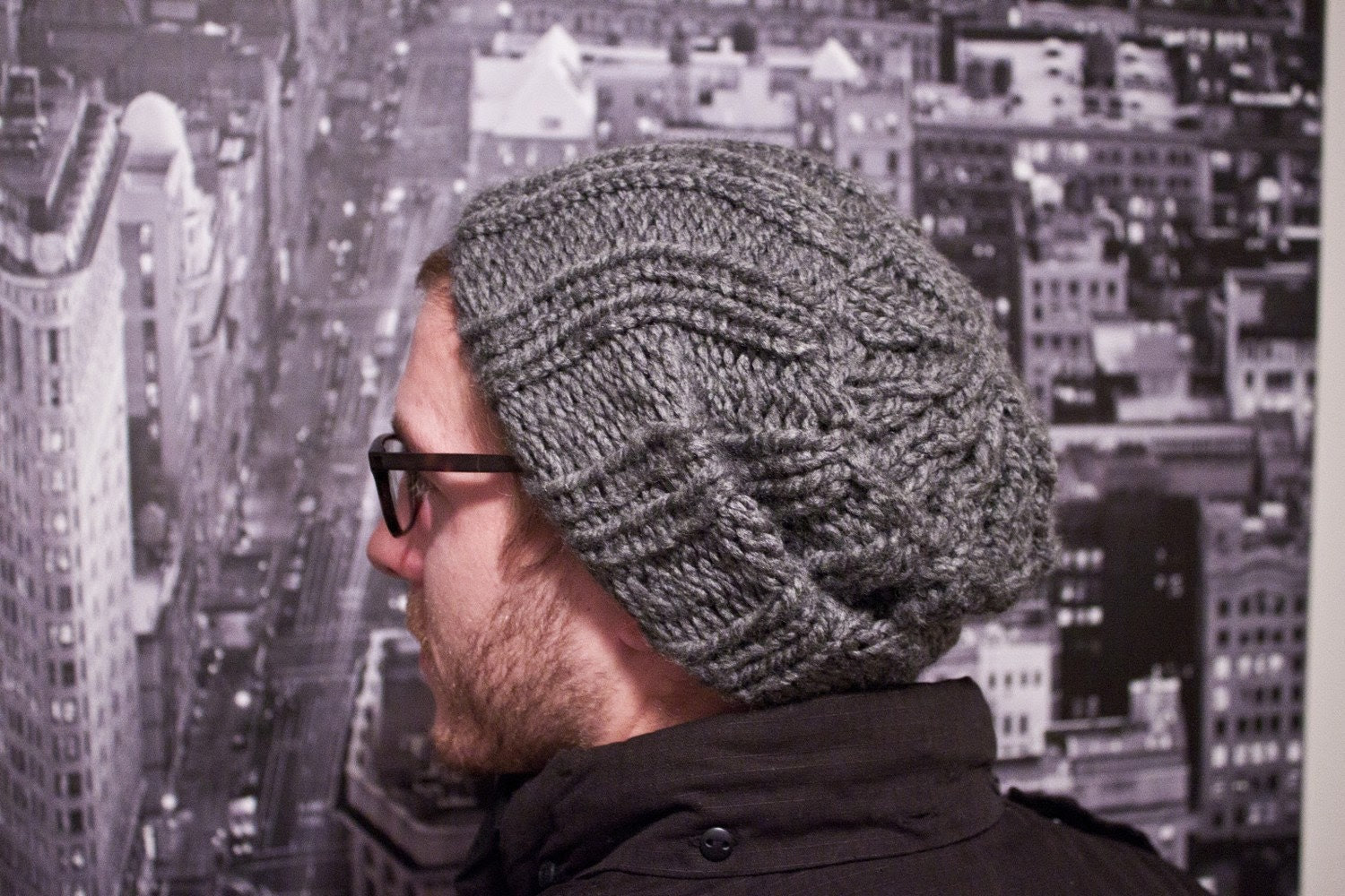 SALE item of the week - - Slouchy Knit Unisex Hat- 'Creeper Slouch'- ONLY Grey, Black or Olive on sale