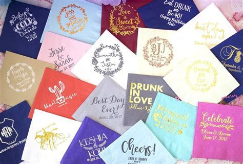 Personalized Napkins, Custom Napkins, Event Napkins
