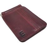 Slim Spring Money Clip Wallet and Credit Card Case Holder Wine Red