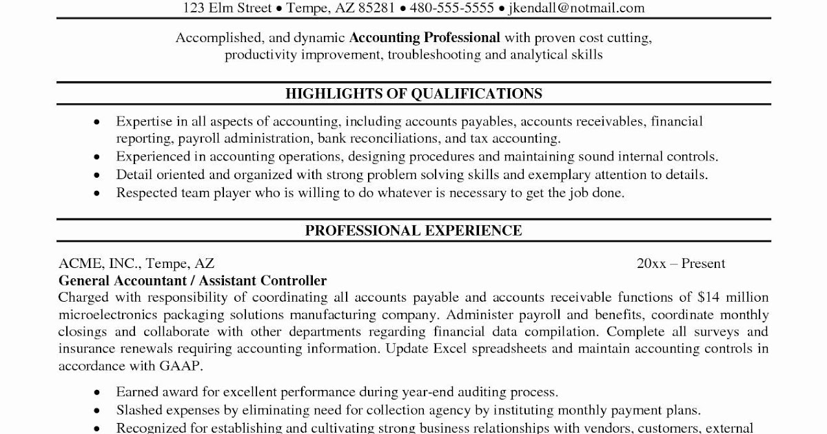 resume objective sample for accountant  resume template