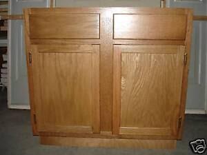"36"" Oak Kitchen Sink Base | eBay"