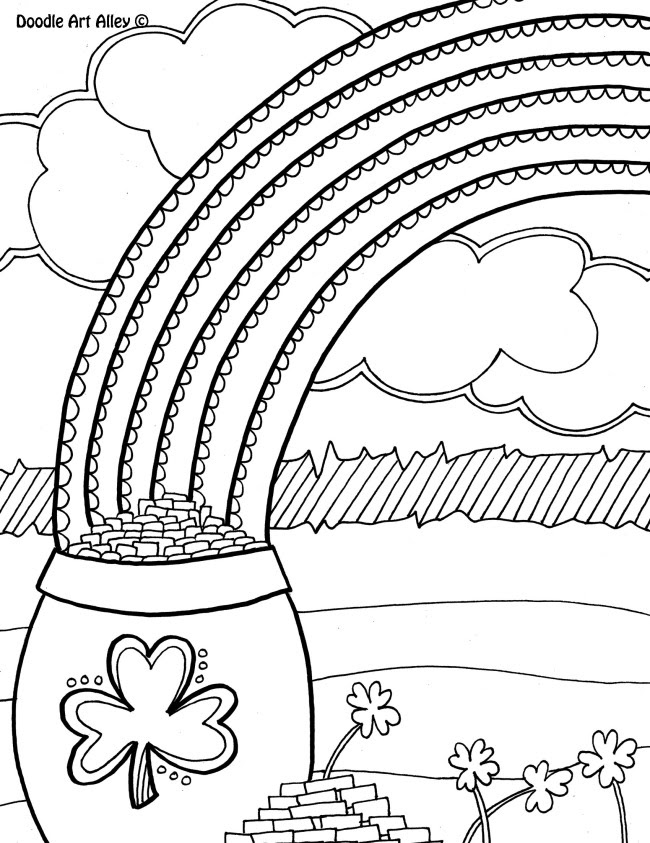 12 St. Patrick's Day Printable Coloring Pages for Adults ...