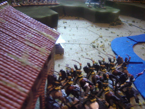 Light cavalry occupies town