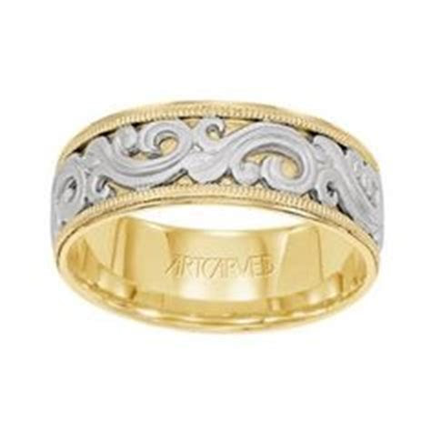 ArtCarved Lyric Two Tone Ladies Wedding Band 8.0mm #11