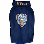Royal Animals NYPD Dog Sweatshirt, Blue, XL