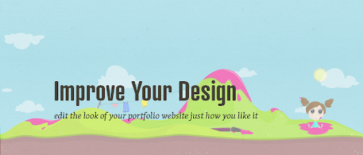 How can you change the graphics of your portfolio?