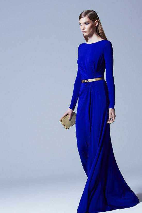 Long sleeve evening maxi dresses