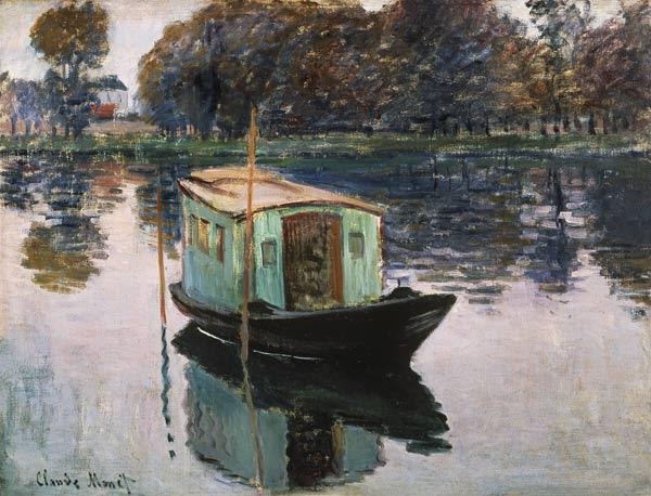 Claude Monet - Un estudio en el bote