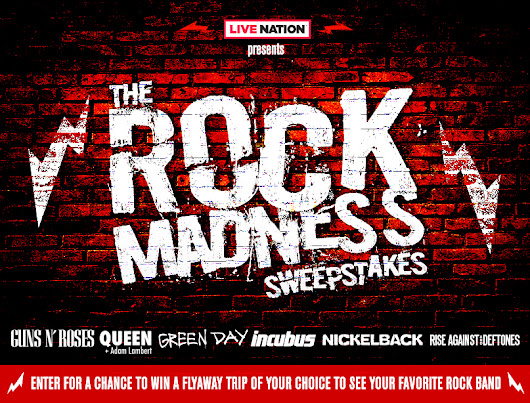 Live Nation Presents: The Rock Madness Sweepstakes