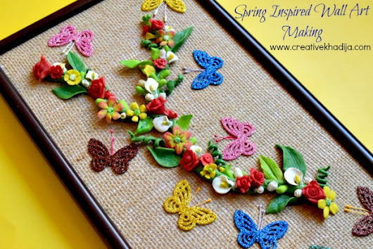 Spring Inspired Wall Art Making with Dough Flowers