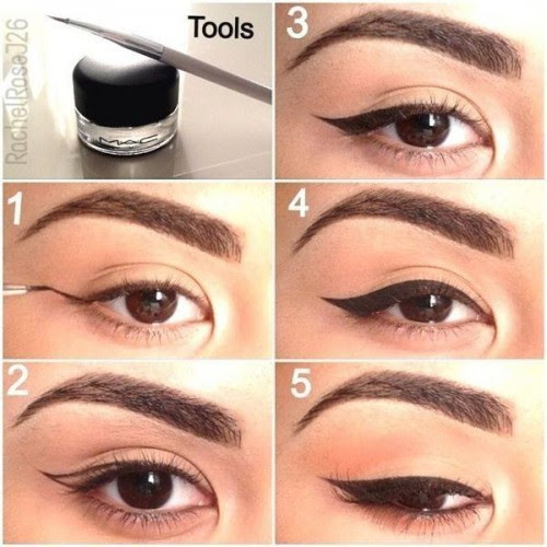How to apply the cat eye makeup     Just Trendy Girls