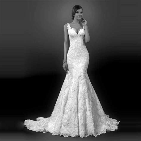 New Style 2016 Bride Gown Vintage Lace Mermaid Long