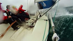 J/80 sailing off Qingdao, China in CCOR Regatta