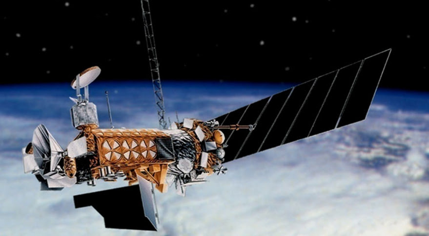 DMSP satellite. Credit: U.S. Air Force/Lockheed Martin artist's concept