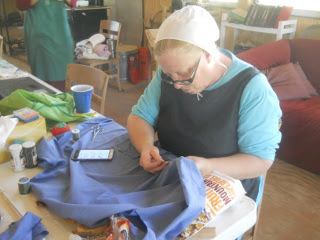 More Sewing On Community Work Day