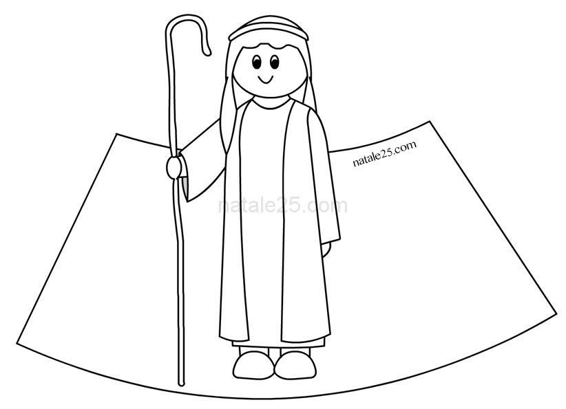 Presepe Di Carta In 3d Pastore Natale 25