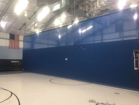 A Custom Gym Divider Install for the Grafton Integrated Health Network