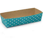 """6.9""""l x 2.6""""W x 1.8""""H Turquoise Dot Paper Rectangular Loaf Pans - Case of 250 (Free Shipping)"""