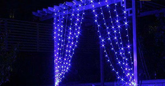 3M3M Curtain Lights, 304 led Icicle Lights Christmas Curtain String Fairy Wedding Led Lights for Wedding, Valentine's Day,Party, Holiday,Outdoor Wall,Kitchen,Home Garden Decorations Blue