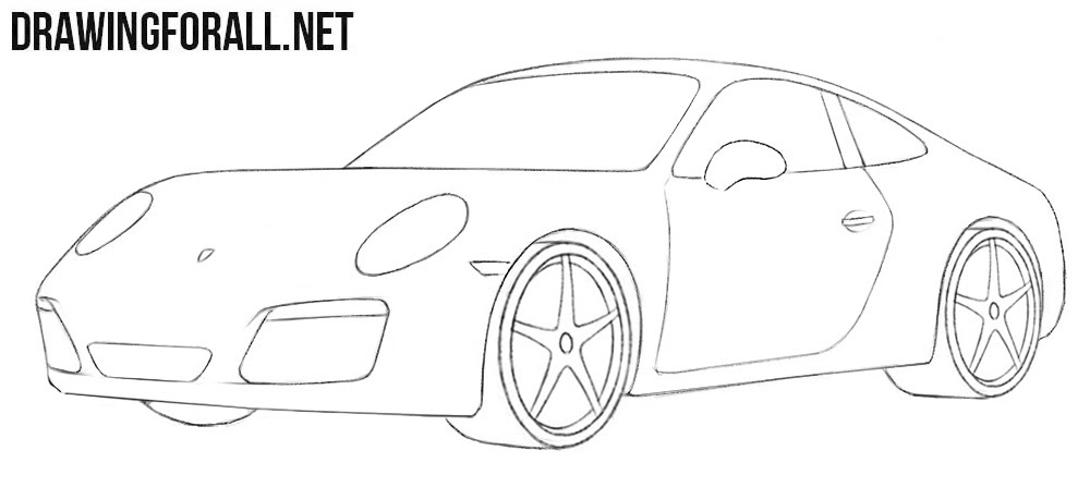 How To Draw A Porsche Easy Drawingforall Net
