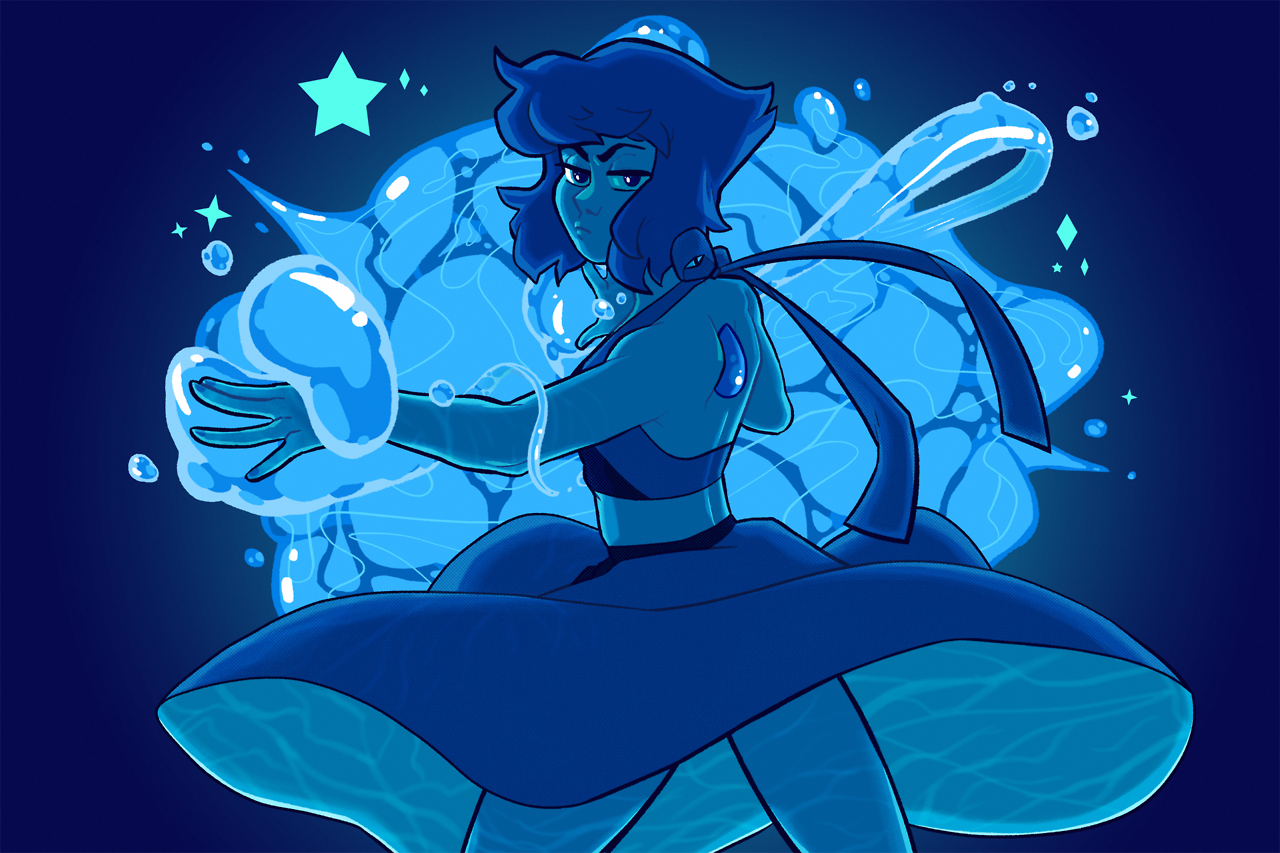 Lapis Lazuli doing her thing! I was channelling some Ponyo into that water- dunno if it shows, though.