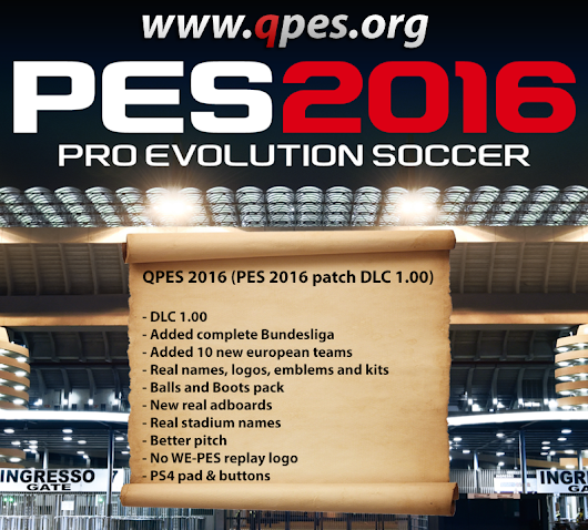 PES 2016 patch DLC 1.00