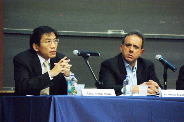 Chee Soon Juan, secretary-general of the Singapore Democratic Party, urged Yale to not become complicit with the ruling People's Action Party's restrictions on campus freedom.